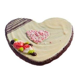 Vegan-Gluten-Free Heart-Shaped Brownie